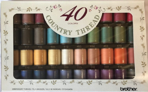 Brother Embroidery Thread COUNTRY  Box 40 B247